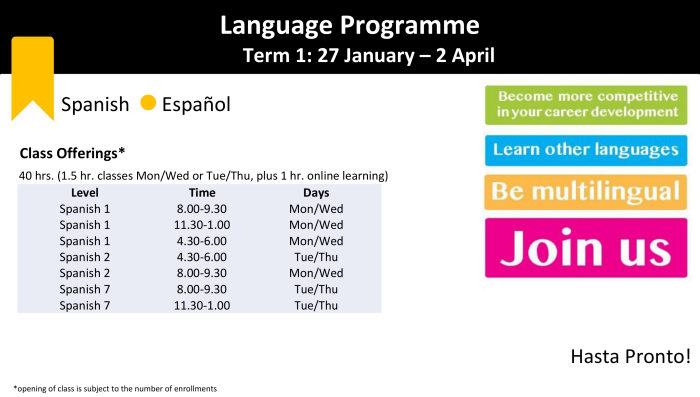 Spanish schedule. Term 1 - 2020 doc-1.png